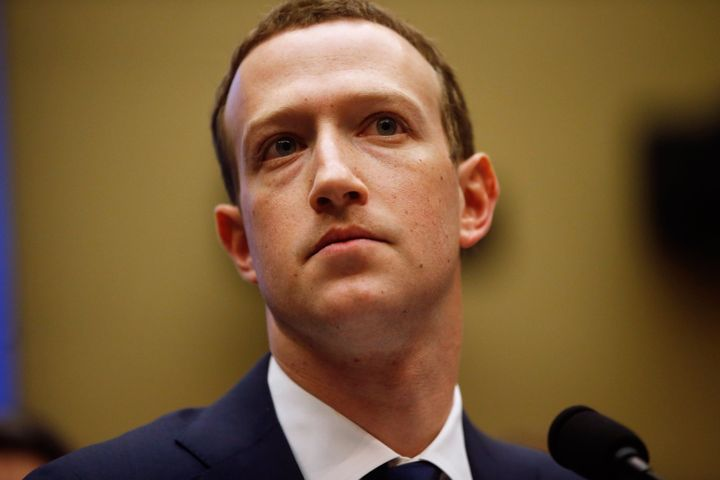 Facebook CEO Mark Zuckerberg on Wednesday during his second day of testimony on Capitol Hill.