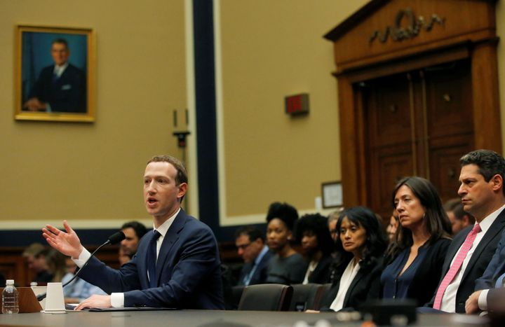 Zuckerberg testifies before the House Energy and Commerce Committee on Wednesday.
