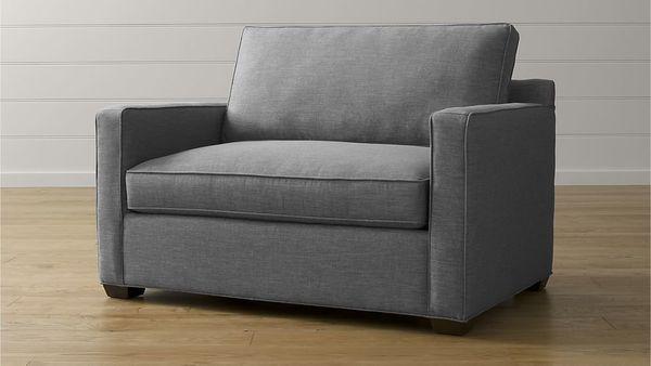 "It's <a href=""https://www.crateandbarrel.com/davis-twin-sleeper-sofa/s483007"" target=""_blank"">a sleeper chair that doesn't lo"