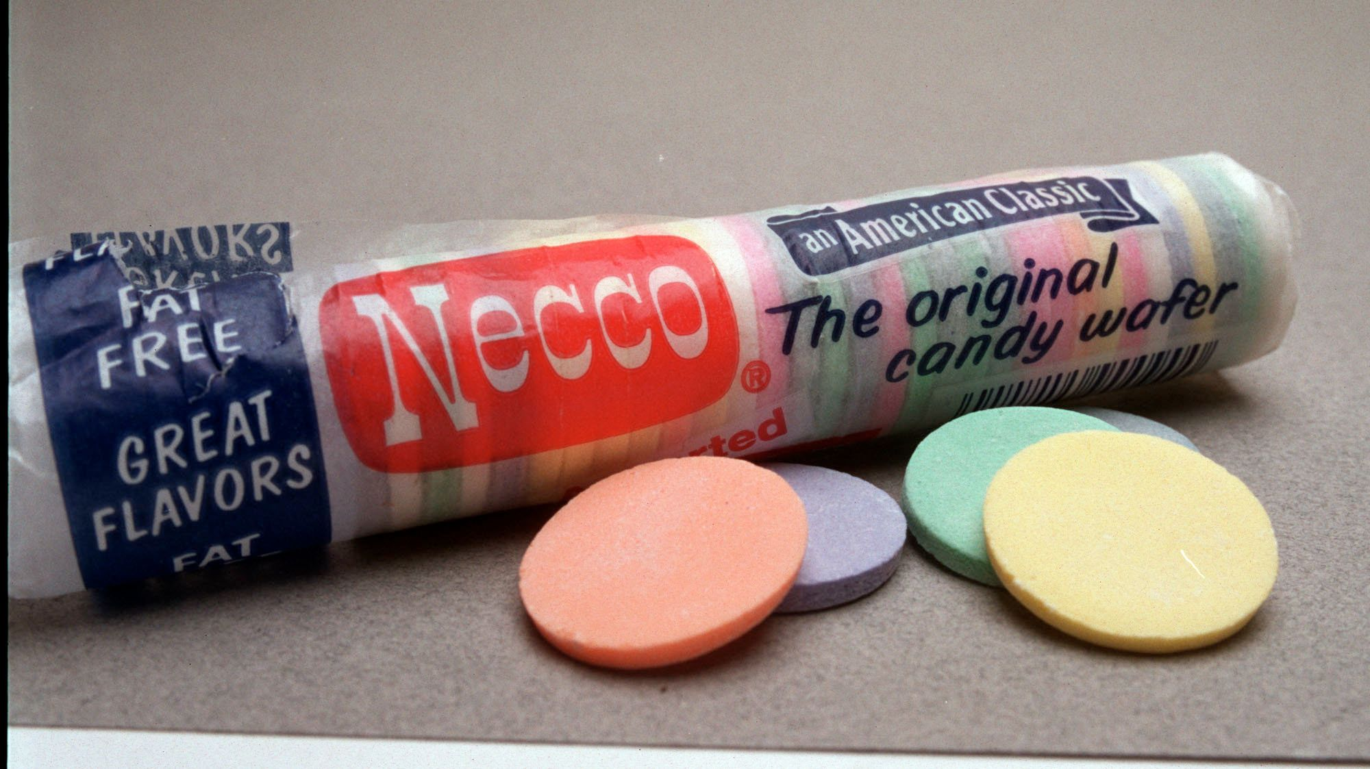 Necco Wafers, sporting bright pastel colors and retro packaging,date back to 1847.
