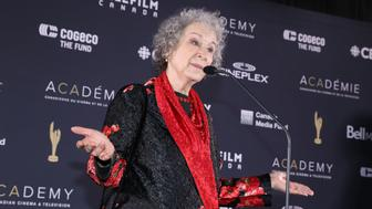 TORONTO, ON - MARCH 11:  Margaret Atwood poses in the press room at the 2018 Canadian Screen Awards at Sony Centre for the Performing Arts on March 11, 2018 in Toronto, Canada.  (Photo by Isaiah Trickey/FilmMagic)