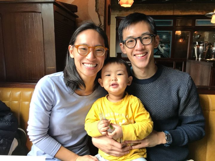 Tina, Jonathan and their son, Baobao.