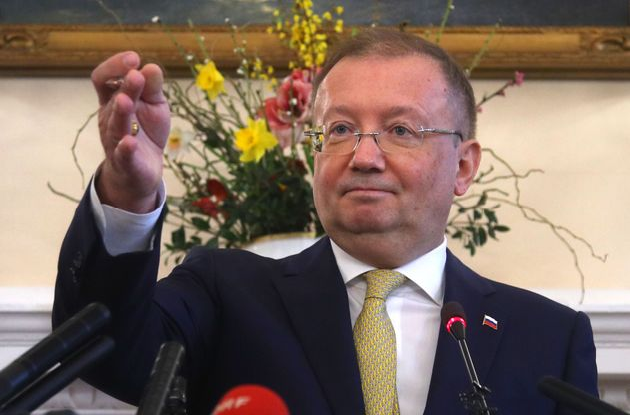 Russian ambassador Vladimirovich Yakovenko held a press conference questioning Britain's version of