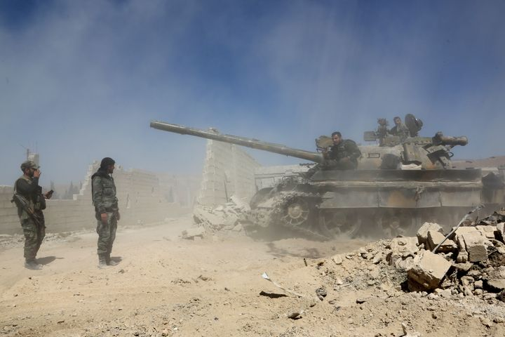 Backed up by Russia's firepower, Syrian President Bashar al-Assad's forces have s ousted his armed opponents from nearly all
