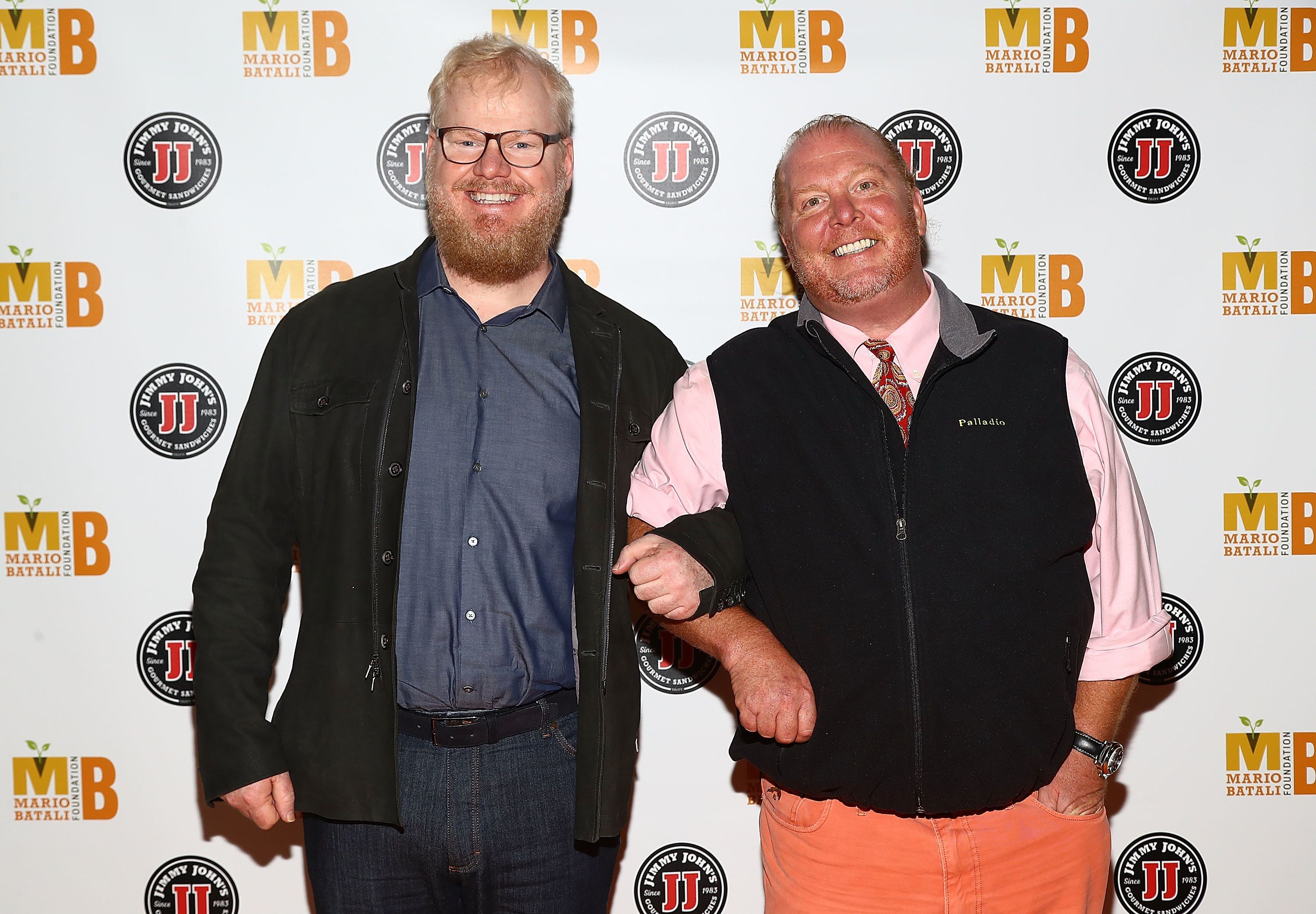 Jim Gaffigan and Mario Batali attend the 6th Annual Mario Batali Foundation Honors dinner on Oct. 15, 2016.