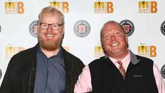 NEW YORK, NY - OCTOBER 15:  (L-R) Comedian Jim Gaffigan and chef Mario Batali attend 6th Annual Mario Batali Foundation Honors dinner at Del Posto on October 15, 2017 in New York City.  (Photo by Astrid Stawiarz/Getty Images)