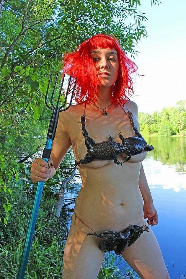 Louisiana Woman Creates Frog Bikini (And It's