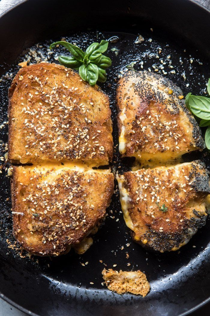 """<strong>Get the <a href=""""https://www.halfbakedharvest.com/3-cheese-everything-spice-grilled-cheese/"""" target=""""_blank"""">3 Cheese"""