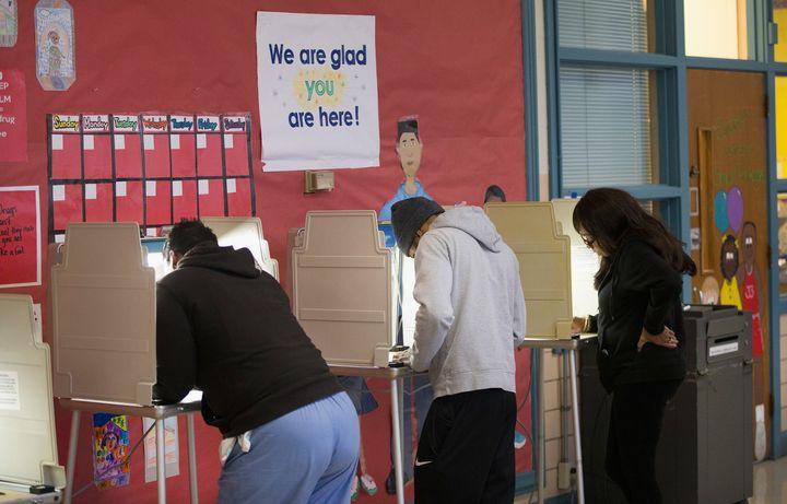 Americanscast their votesin Ferguson, Missouri, on Nov. 4, 2014.