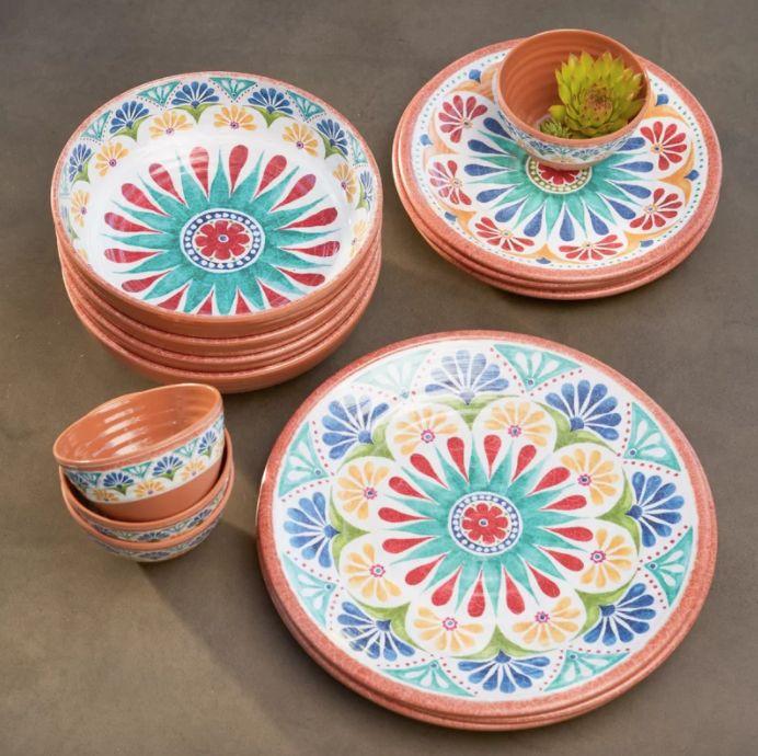 Adkins 16 Piece Dinnerware Set