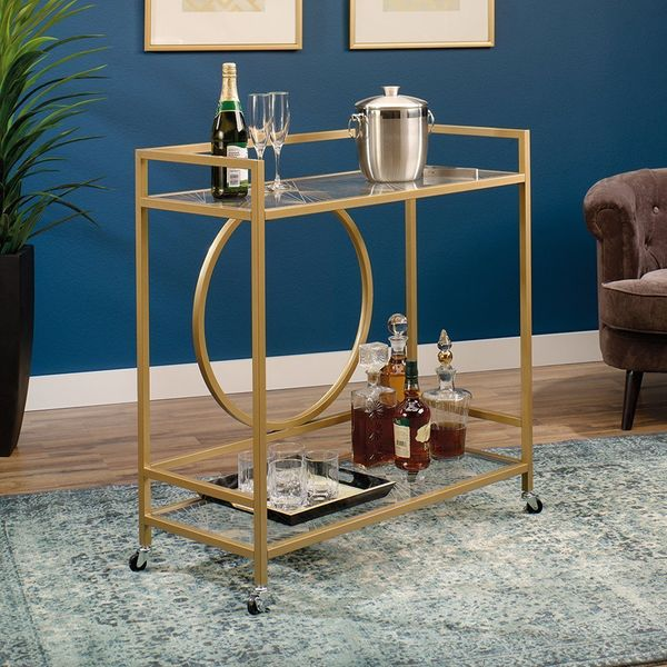 "This durable bar cart is what cocktail-laden dreams are made of. Get it <a href=""https://www.amazon.com/dp/B00WNCNQ86/ref=str"