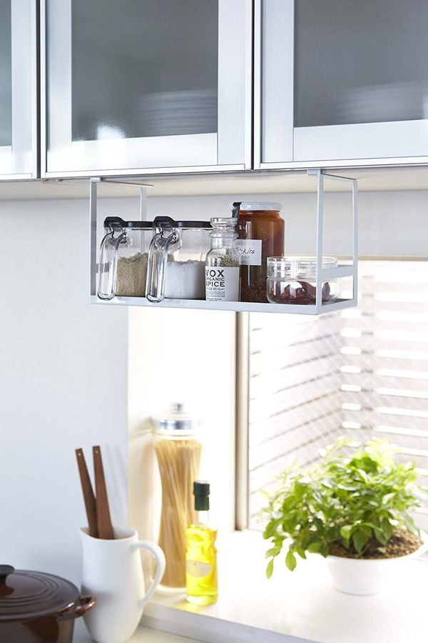 "Free up your valuable cabinet space with&nbsp;this under-shelf spice&nbsp;and seasoning rack. Get it <a href=""https://www.ama"