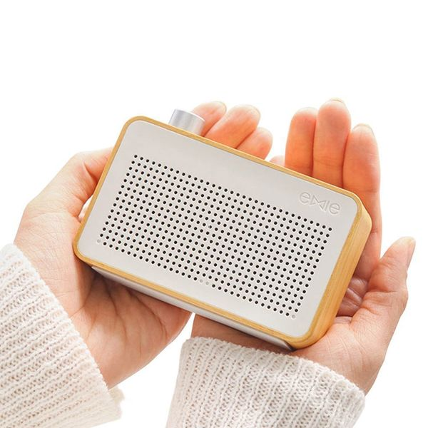 This vintage-inspired Bluetooth speaker is small enough for portable use, but quality enough to use everyday at home. Get it