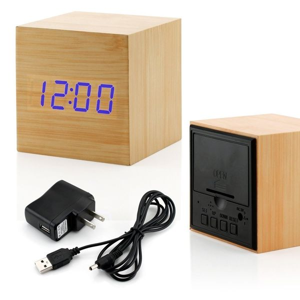"This alarm clock has a sleek modern design with no buttons or plastic parts in sight. Get it <a href=""https://www.amazon.com/"