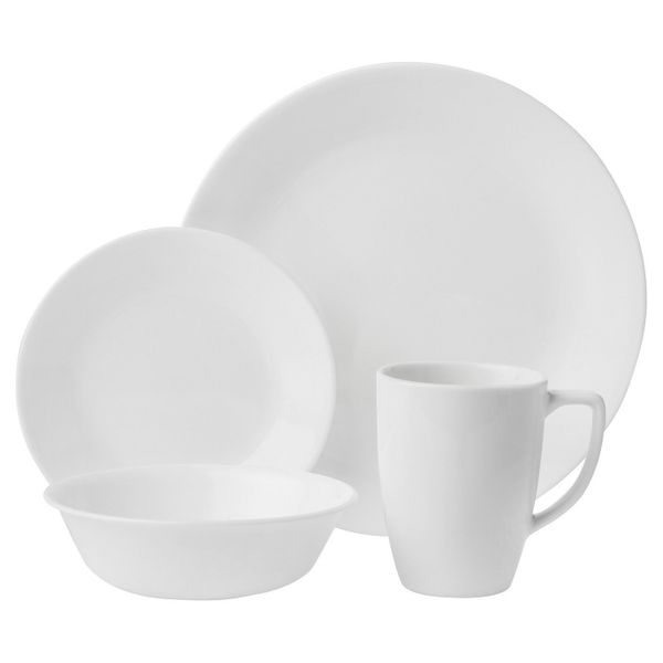 Corelle is known for making lightweight, break-resistant dinnerware sets that are made of durable Vitrelle glass. Get this se