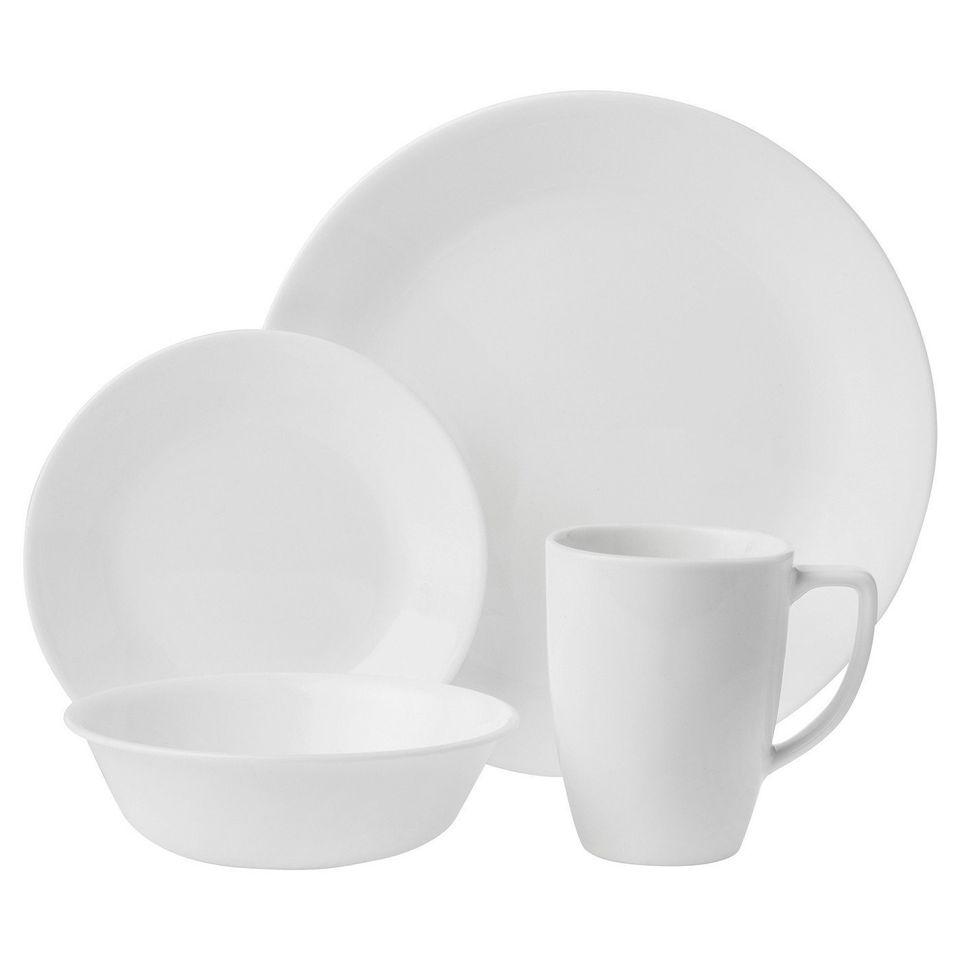 Corelle Livingware Winter Frost Vitrelle 16pc Dinnerware Set