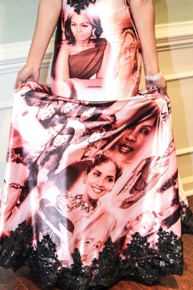 Skyler Branch pays homage to influential black women on her senior prom dress.
