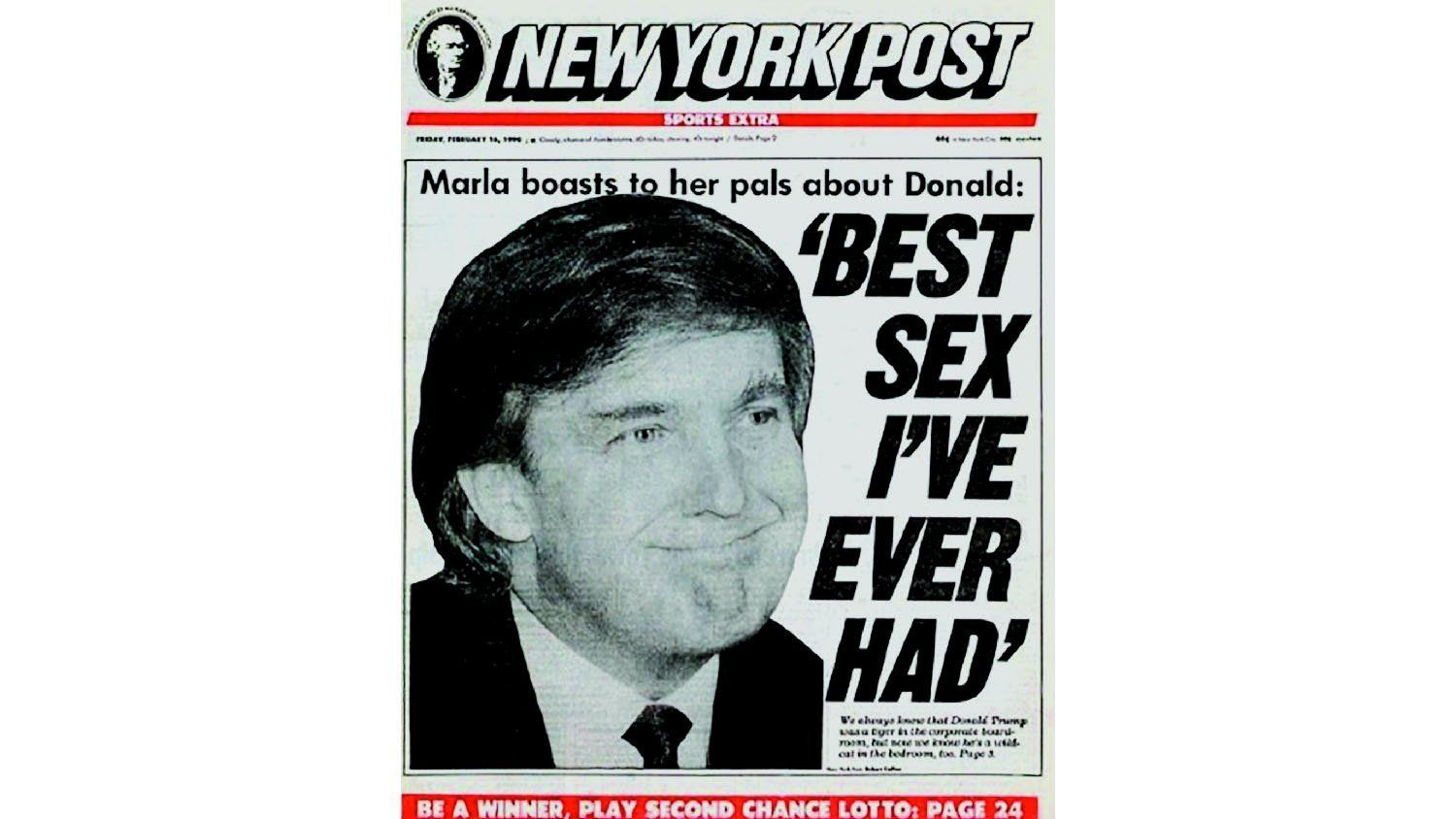 Trump Post front page