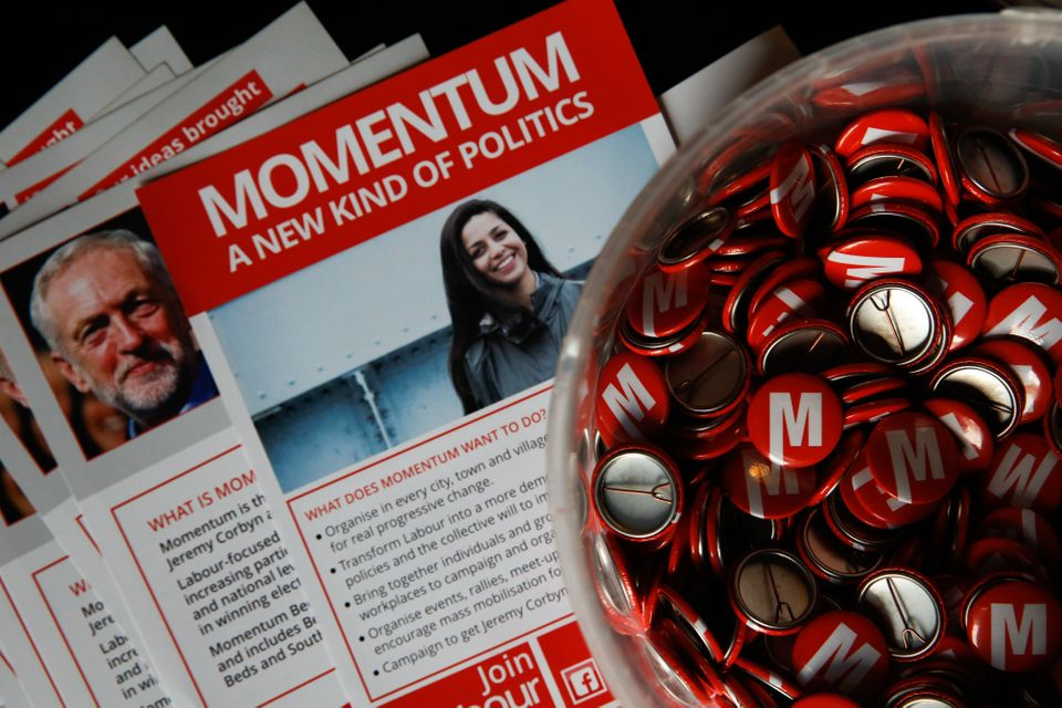 Badges and leaflets for Momentumfrom