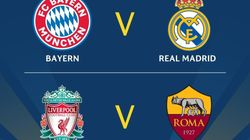 Football: Bayern-Real, Liverpool-As Roma en demi-finales de la Ligue des