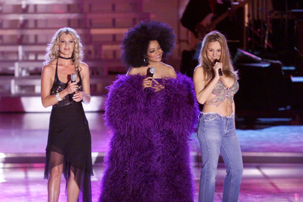 "Faith Hill, Diana Ross and Mariah Carey at ""VH1 Divas 2000: A Tribute to Diana Ross."""