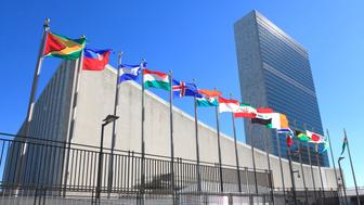 New, York, NY, USA - September 24, 2016 - United Nations Headquarters: United Nations Headquarters in New York City: The United Nations General Assembly opens.