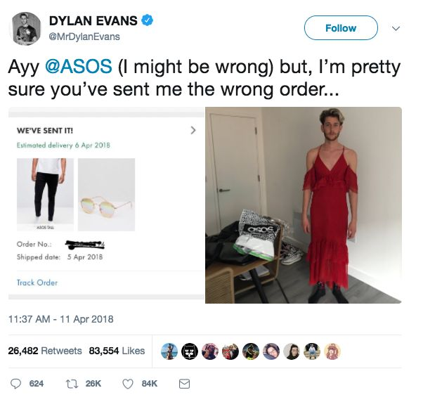 Asos Sent This Guy The Wrong Order But It's Actually