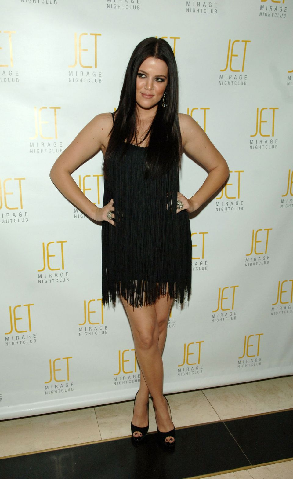 At sister Kim Kardashian's 27th birthday celebration at Jet Nightclub at The Mirage Hotel & Casino Resort in Las Veg