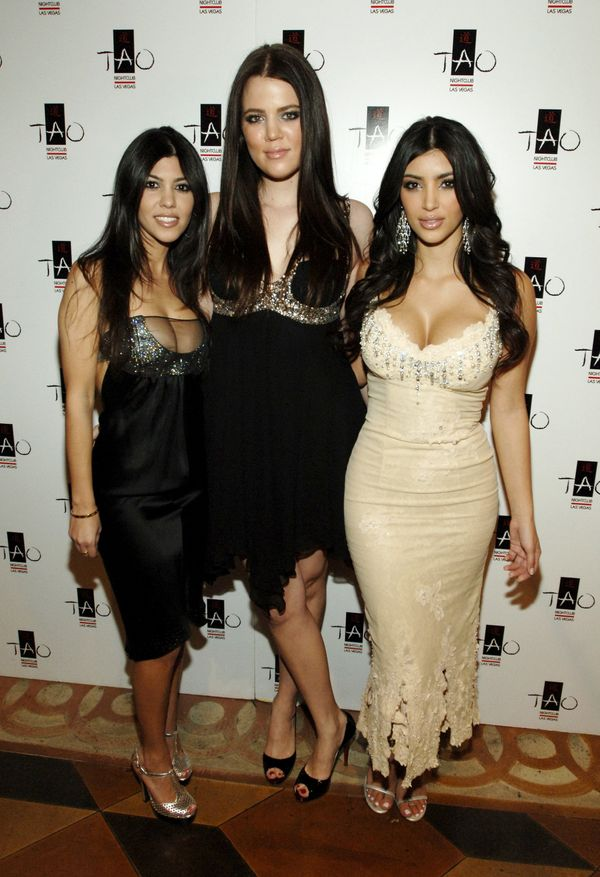 With sisters Kourtney and Kim at Tao Las Vegas.
