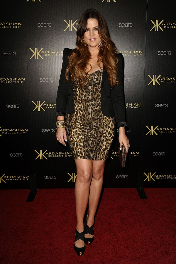 At the Kardashian Kollection launch party at The Colony in Hollywood.