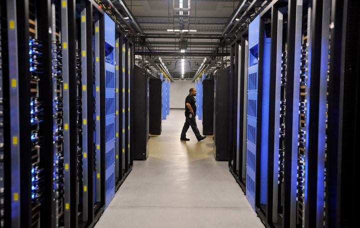 The inside of a Facebook data center in Forest City, North Carolina. The newestsuch center will open in 2023outsi
