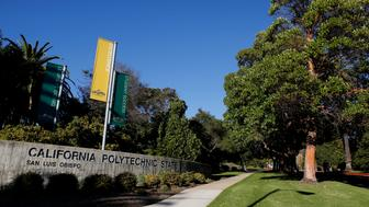 The campus of California Polytechnic State University San Luis Obispo (Cal Poly SLO) stands in San Luis Obispo, California, U.S., on Friday, Sept. 20, 2013. Universities often are susceptible to the Interfraternity Conferences pressure to recruit freshmen because Greek life appeals to applicants and many alumni donors remain loyal to their fraternities. Photographer: Patrick T. Fallon/Bloomberg via Getty Images