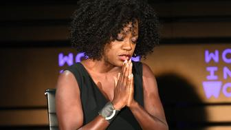 Actor Viola Davis speaks onstage at the 2018 Women In The World Summit at Lincoln Center on April 12, 2018 in New York City.  / AFP PHOTO / ANGELA WEISS        (Photo credit should read ANGELA WEISS/AFP/Getty Images)