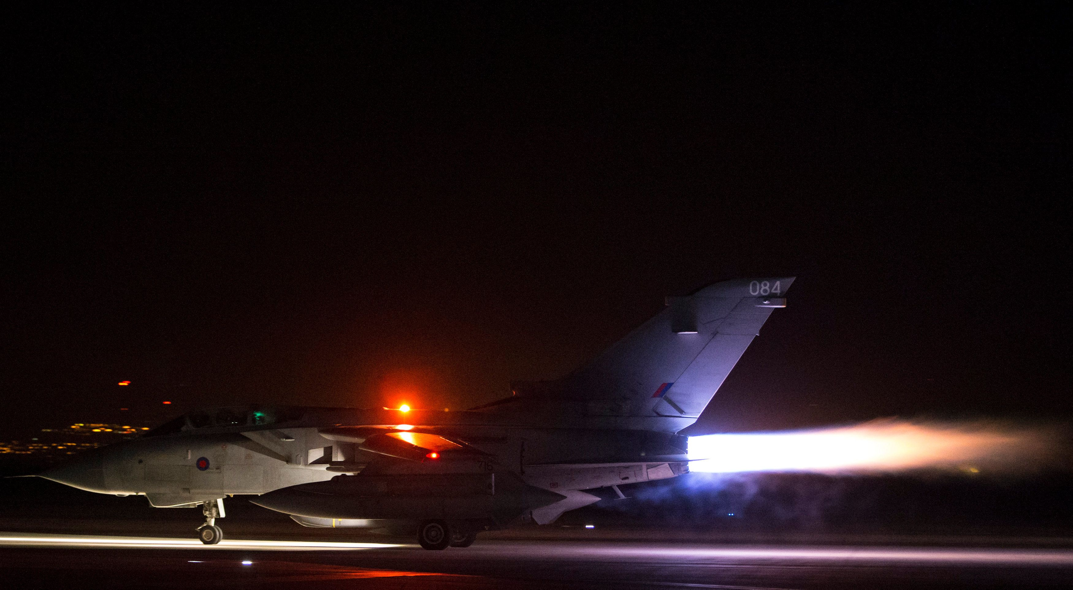 An RAF Tornado takes off from Cyprus