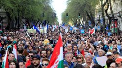 Tens Of Thousands In Hungary Protest Far-Right Leader Viktor