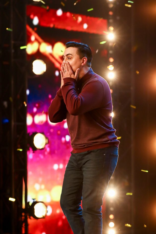 Marc Spelmann has become the first of this year's Golden Buzzer acts on 'Britain's Got
