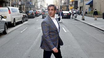 NEW YORK, NY - APRIL 13: Michael Cohen, U.S. President Donald Trump's personal attorney, crosses E. 61st St. near the Loews Regency hotel on Park Ave on April 13, 2018 in New York City. Following FBI raids on his home, office and hotel room, the Department of Justice announced that they are placing him under criminal investigation. (Photo by Yana Paskova/Getty Images)