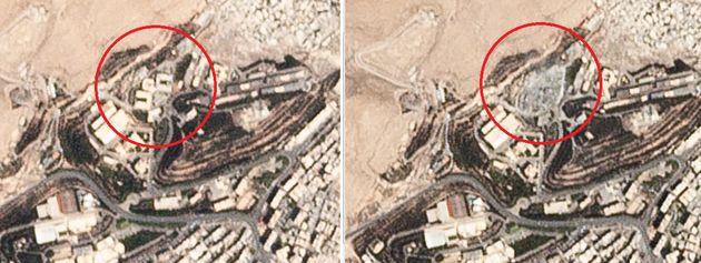 미국 공습으로 파괴된 시리아 지역의