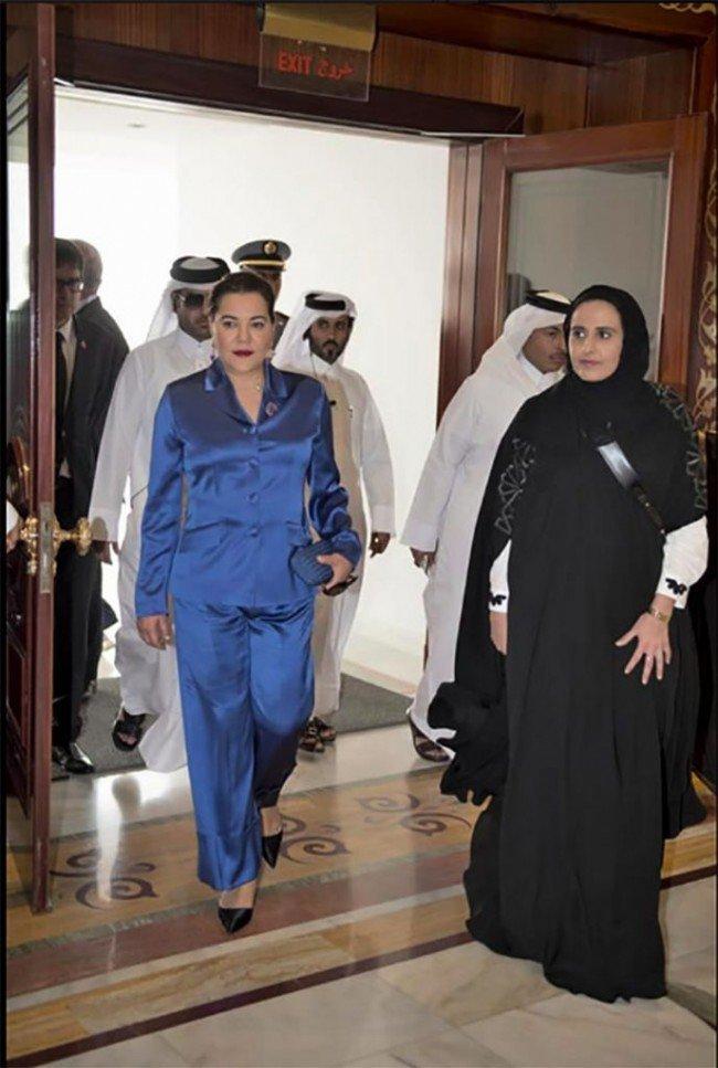 La princesse Lalla Hasnaa au Qatar pour l'inauguration de la Bibliothèque