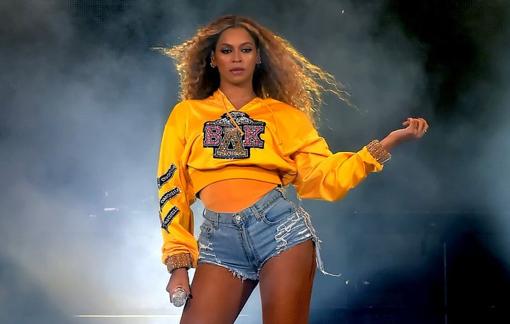 Beyonce Knowles performs onstage during 2018 Coachella Valley Music And Arts Festival Weekend 1 at the Empire Polo Field on A