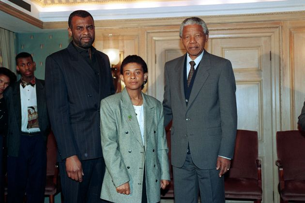 Neville Lawrence, his ex-wife, Doreen, and Nelson Mandela.