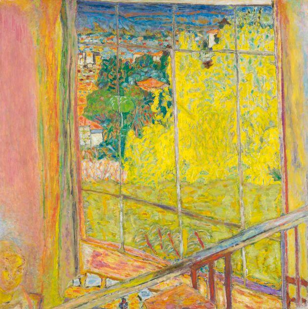 Pierre Bonnard, L'atelier au mimosa, (hiver 1939 / octobre 1946). Huile sur toile, 1275 x 1275