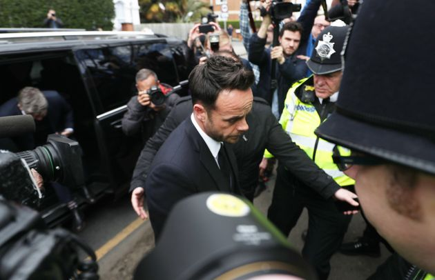 Ant faced a scrum of photographers as he arrived at The Court House in