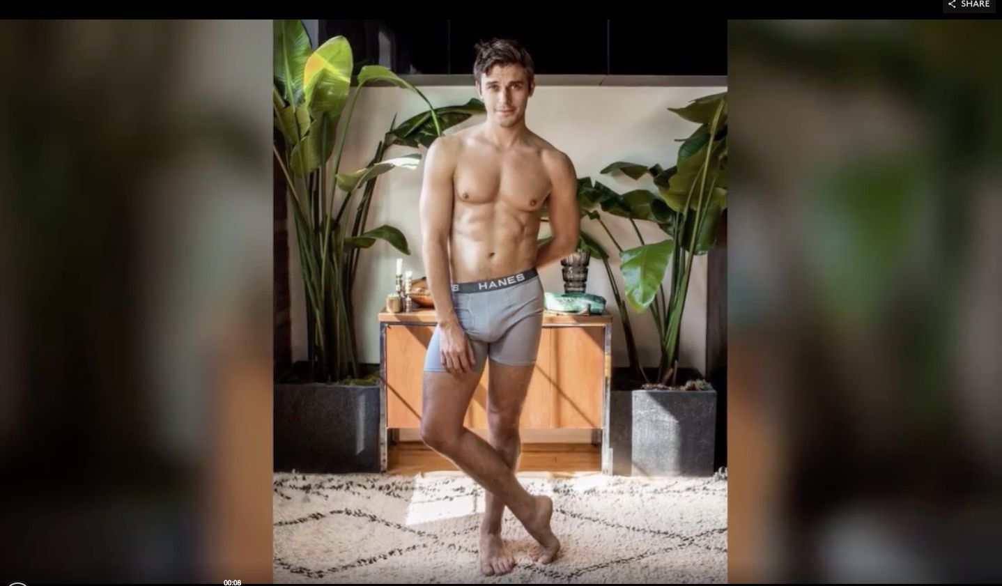 'Queer Eye' Star Antoni Porowski Strips To His Underwear For Hanes Campaign
