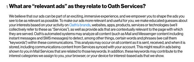 Yahoo And AOL Mail Will Scan The Contents Of Emails To Provide More Targeted