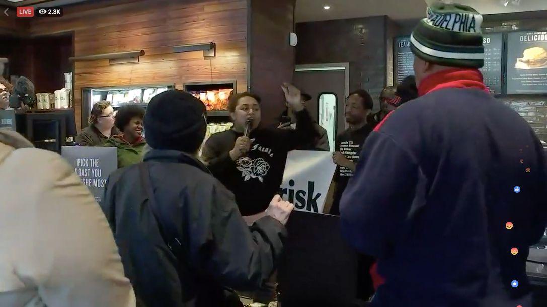 Protests Erupt At Philly Starbucks Where 2 Black Men Were Arrested For 'Trespassing'