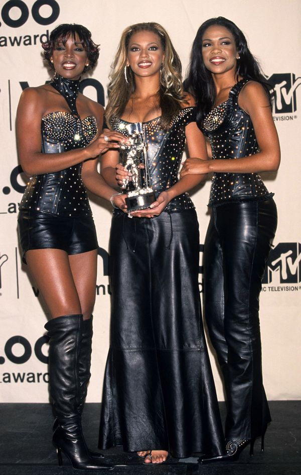 Destiny's Child with their award for best R&B Video backstage at the MTV Music Video Awards in 2000 at Radio City Music H