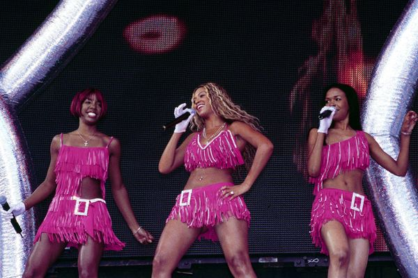 Performing at the Party in the Park at Hyde Park in London.
