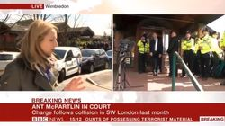 BBC News Coverage Of Ant McPartlin's Court Hearing Interrupted By Car Crash