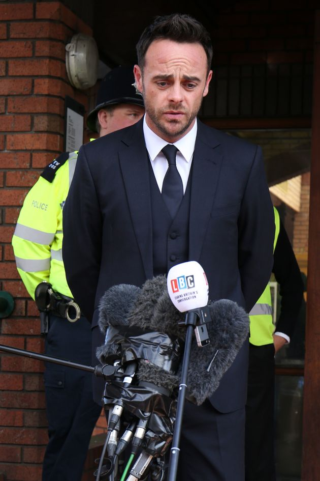 Ant read out a statement outside court following the